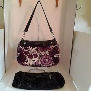 Thirty-One skirt purse W/extra skirt - EUC